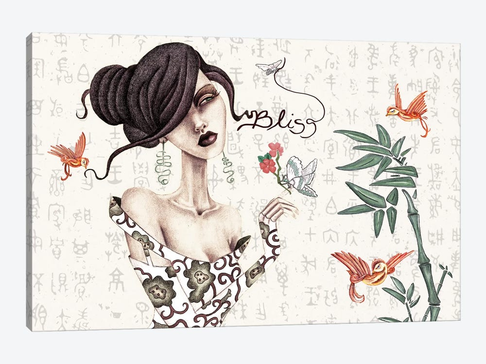 Geisha 1-piece Canvas Wall Art
