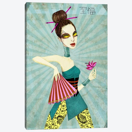 Geisha II Canvas Print #JMI21} by Jami Goddess Canvas Wall Art