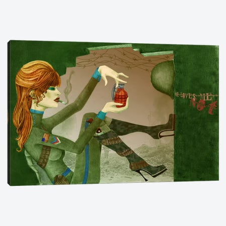 Grenade Canvas Print #JMI23} by Jami Goddess Canvas Art