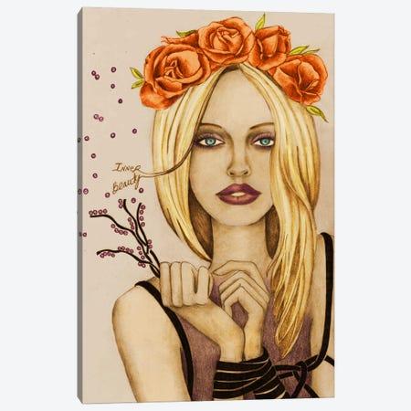 Inner Beauty Canvas Print #JMI25} by Jami Goddess Canvas Print