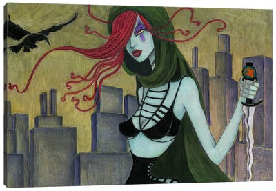Jane At Night Canvas Print #JMI26