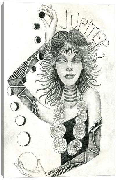 Jupiter (Drawing) Canvas Art Print