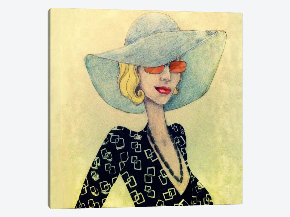Lady With Hat by Jami Goddess 1-piece Canvas Print