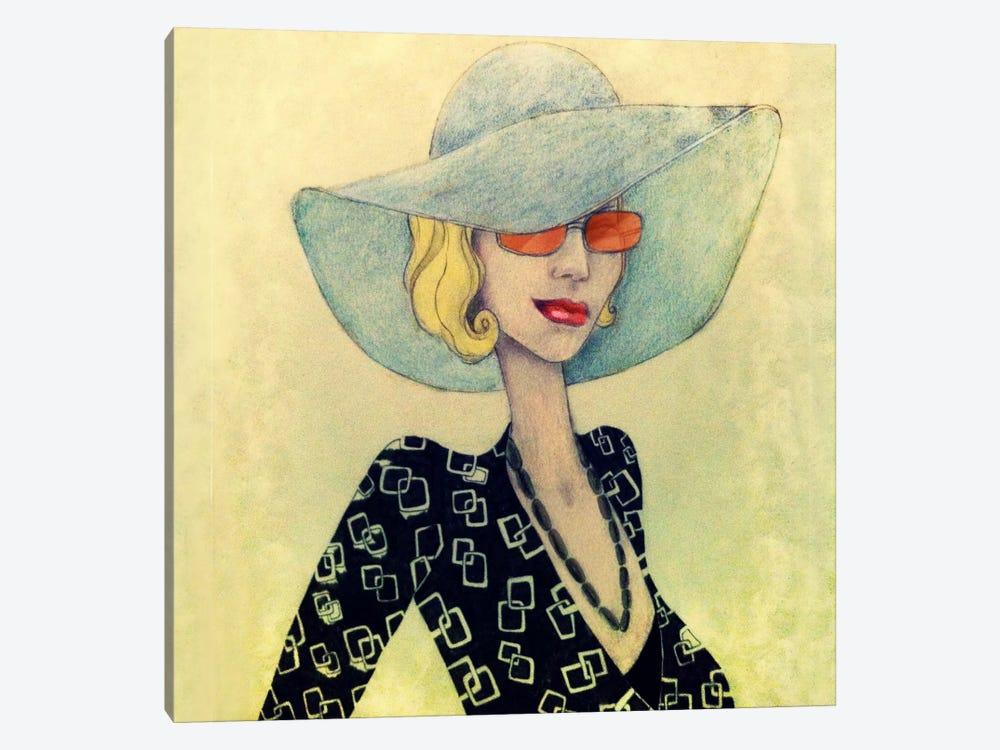 Lady With Hat by Jami Goddess 1-piece Canvas Print 635038f997f