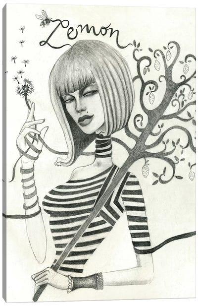 Lemon (Drawing) Canvas Art Print