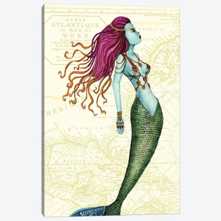 Mermaid II Canvas Print #JMI39} by Jami Goddess Canvas Print