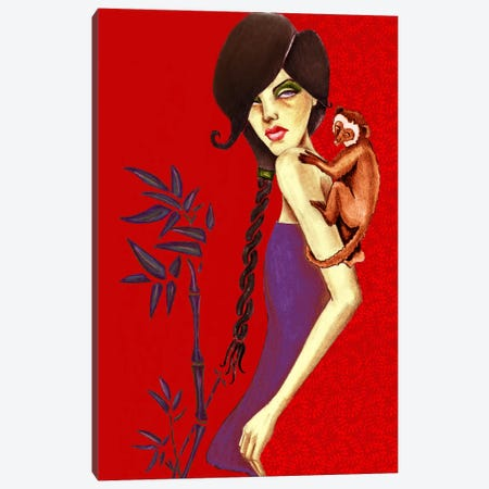 Monkey Canvas Print #JMI40} by Jami Goddess Canvas Art