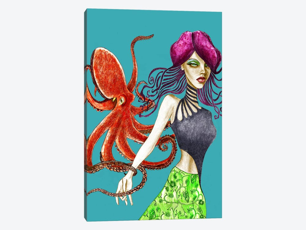 Octopus by Jami Goddess 1-piece Canvas Wall Art