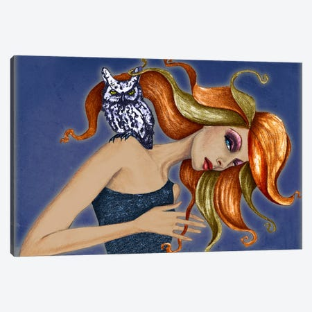 Owl I Canvas Print #JMI43} by Jami Goddess Canvas Art