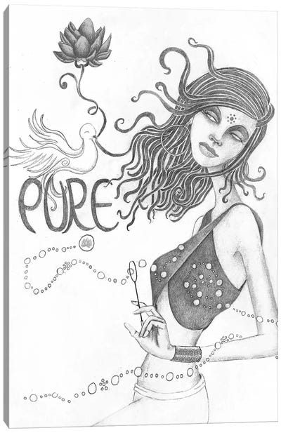 Pure (Drawing) Canvas Art Print