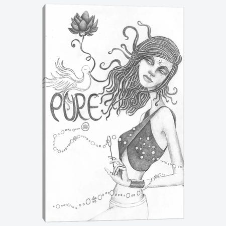 Pure (Drawing) Canvas Print #JMI49} by Jami Goddess Canvas Wall Art