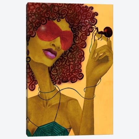 Black Widow Canvas Print #JMI4} by Jami Goddess Canvas Wall Art