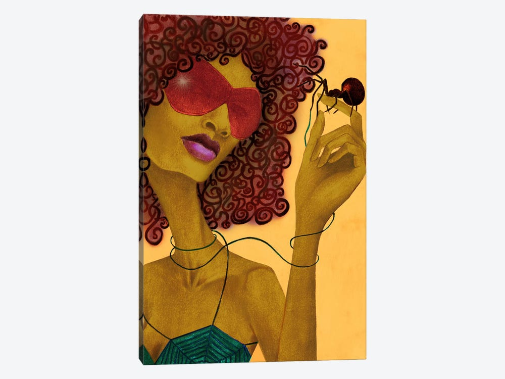 Black Widow by Jami Goddess 1-piece Canvas Wall Art