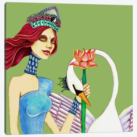 Queen Canvas Print #JMI50} by Jami Goddess Canvas Art Print