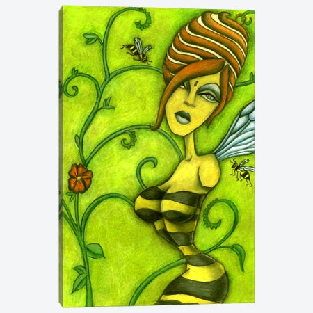 Queen Bee Canvas Print #JMI51} by Jami Goddess Art Print