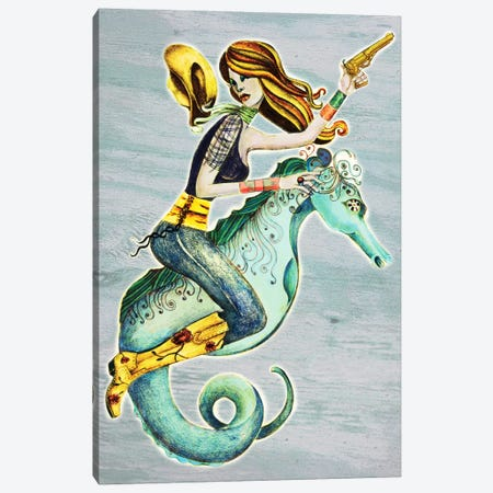 Seahorse Canvas Print #JMI55} by Jami Goddess Canvas Artwork