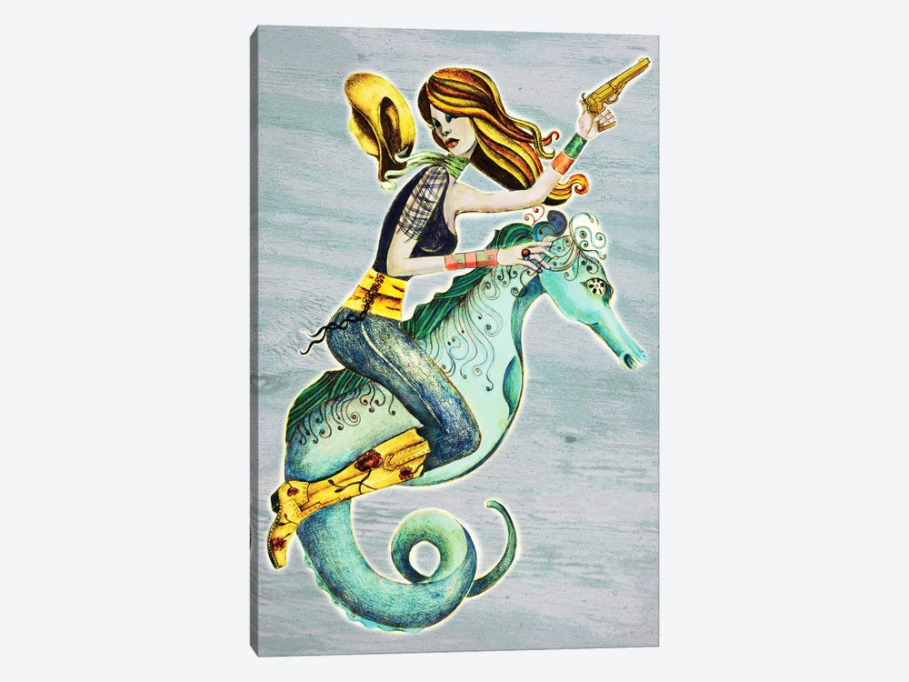 Seahorse by Jami Goddess 1-piece Canvas Wall Art