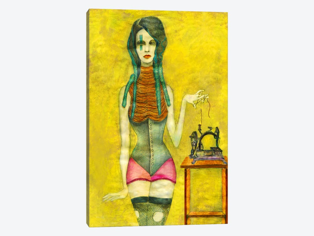 Sewing Machine by Jami Goddess 1-piece Canvas Print