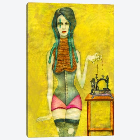 Sewing Machine Canvas Print #JMI56} by Jami Goddess Canvas Wall Art