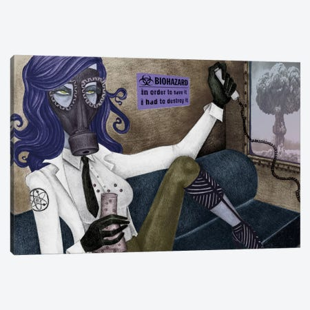 The Scientist 3-Piece Canvas #JMI62} by Jami Goddess Canvas Art