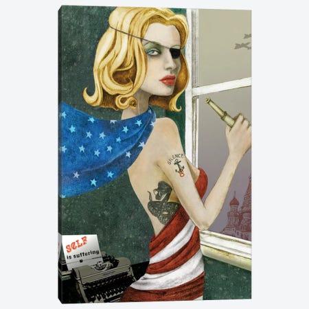 The Spy Canvas Print #JMI63} by Jami Goddess Canvas Art
