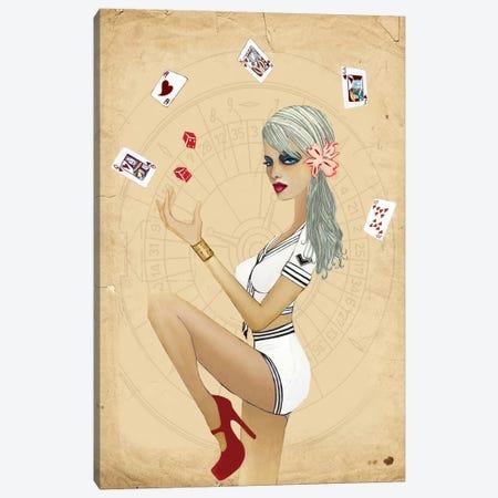 Viva Las Vegas Canvas Print #JMI66} by Jami Goddess Canvas Art Print