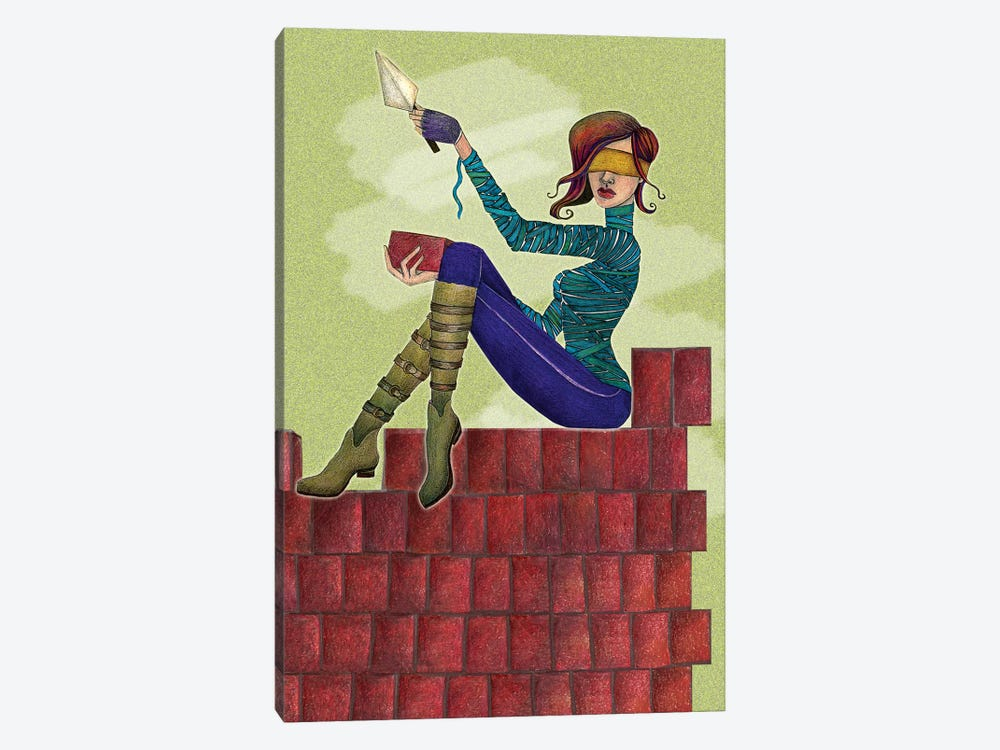 Build It Up by Jami Goddess 1-piece Canvas Wall Art