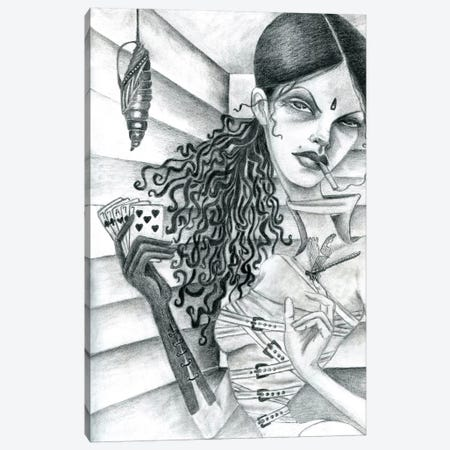 Cassandra (Drawing) Canvas Print #JMI8} by Jami Goddess Canvas Print