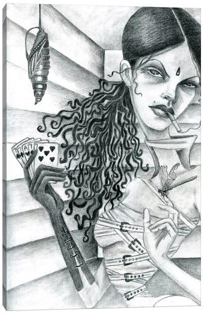 Cassandra (Drawing) Canvas Art Print