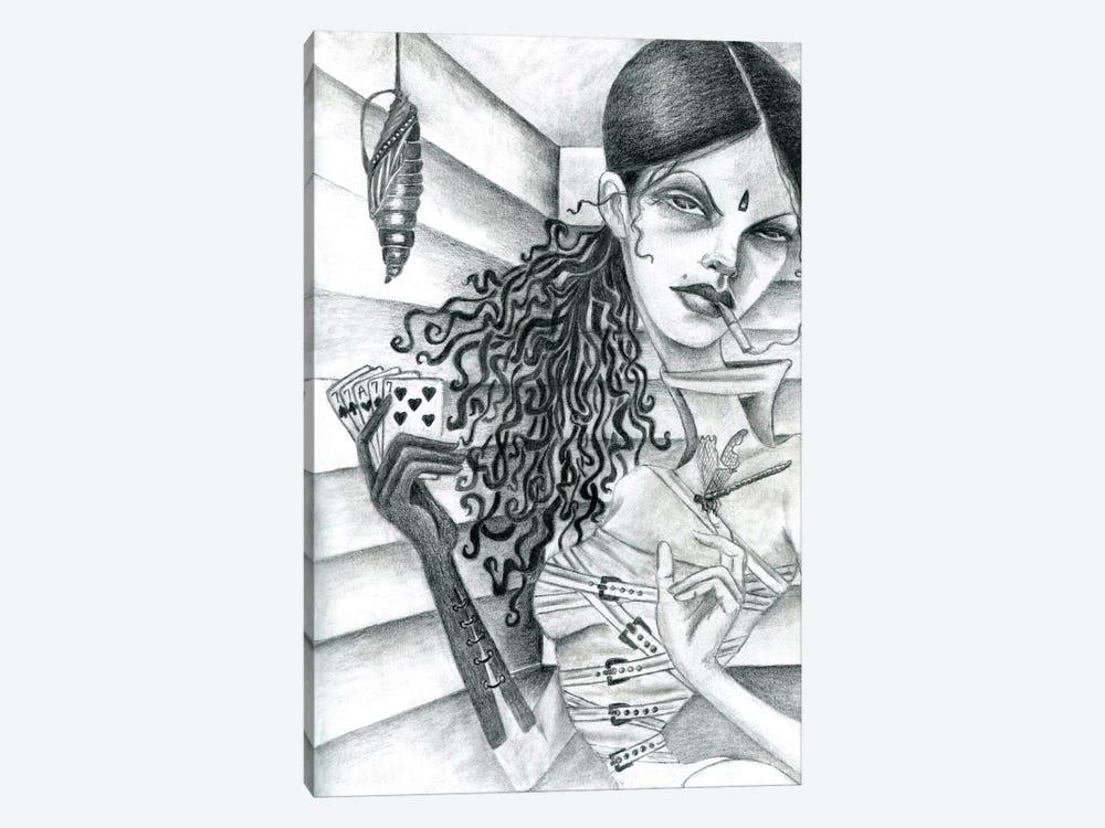 Cassandra (Drawing) by Jami Goddess 1-piece Canvas Wall Art