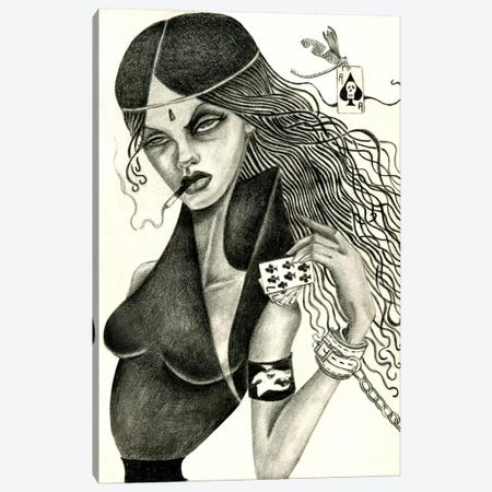 Cassandra II (Drawing) Canvas Print #JMI9} by Jami Goddess Art Print