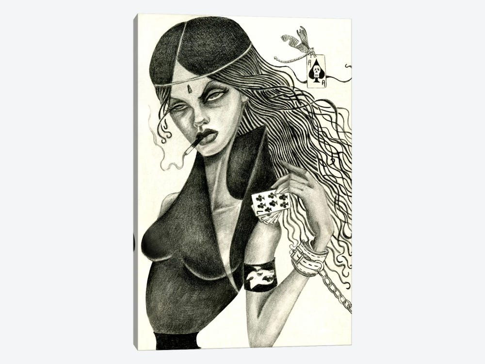 Cassandra II (Drawing) by Jami Goddess 1-piece Canvas Art Print