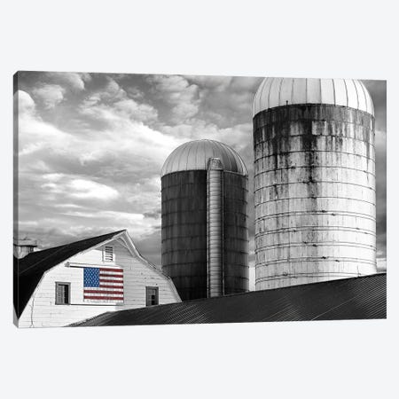 Flags of Our Farmers II 3-Piece Canvas #JML101} by James McLoughlin Canvas Art Print
