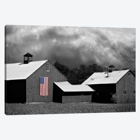 Flags of Our Farmers XV 3-Piece Canvas #JML115} by James McLoughlin Canvas Print