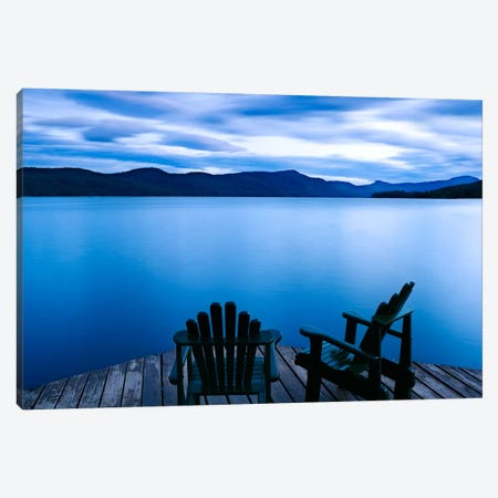 Scene On The Water V Canvas Print #JML11} by James McLoughlin Canvas Art