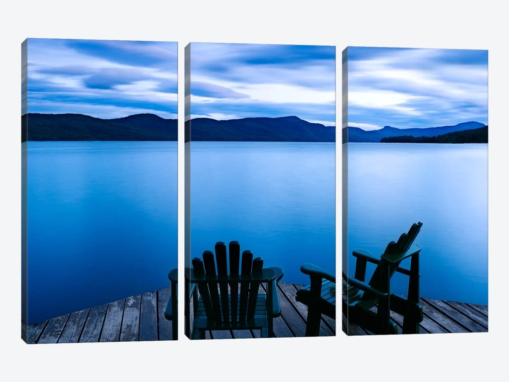 Scene On The Water V 3-piece Canvas Wall Art