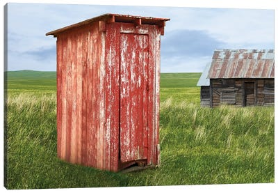 Barn Scene XIII Canvas Art Print