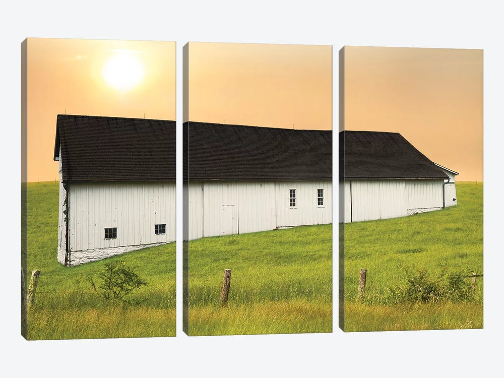 Barn Scene XIV by James McLoughlin 3-piece Canvas Art Print