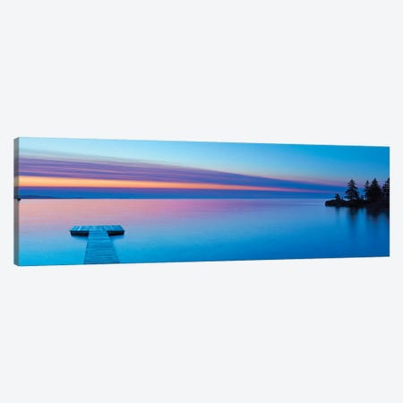 Lakescape Panorama XI Canvas Print #JML180} by James McLoughlin Canvas Print