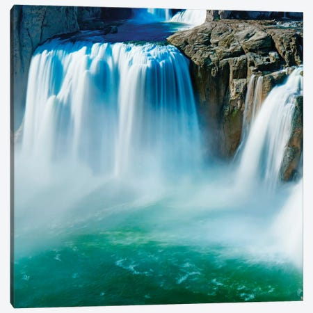 Waterfall Portrait IV Canvas Print #JML207} by James McLoughlin Canvas Art Print