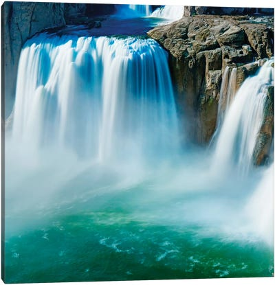 Waterfall Portrait IV Canvas Art Print