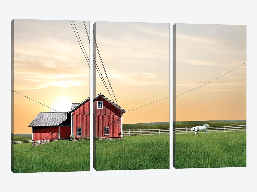Farm & Country IV by James McLoughlin 3-piece Canvas Wall Art