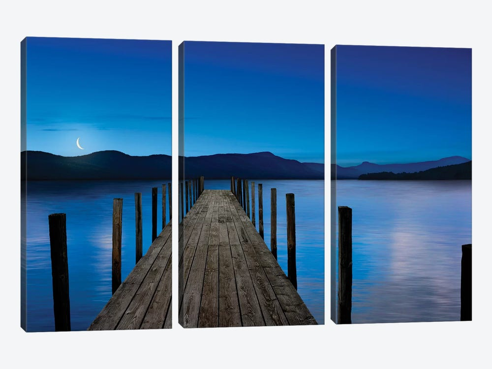 Dusk & Water V by James McLoughlin 3-piece Canvas Print
