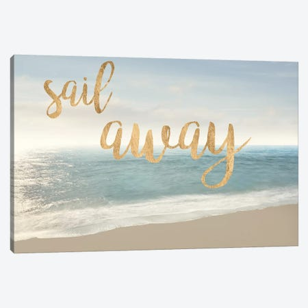 Beach Sail Away Canvas Print #JML55} by James McLoughlin Canvas Art Print