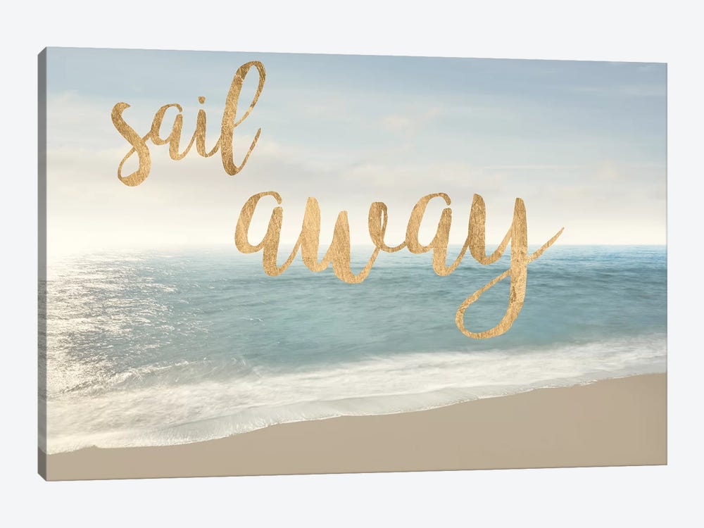 Beach Sail Away by James McLoughlin 1-piece Canvas Artwork