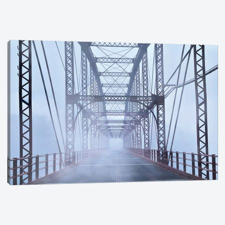 Misty Bridge Canvas Print #JML57} by James McLoughlin Canvas Print
