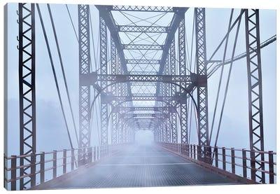 Misty Bridge Canvas Art Print