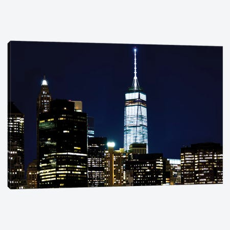 New York At Night VI 3-Piece Canvas #JML58} by James McLoughlin Canvas Artwork