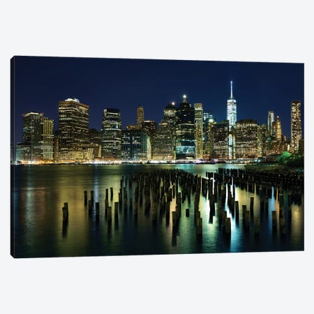 New York At Night VII Canvas Print #JML59} by James McLoughlin Canvas Wall Art