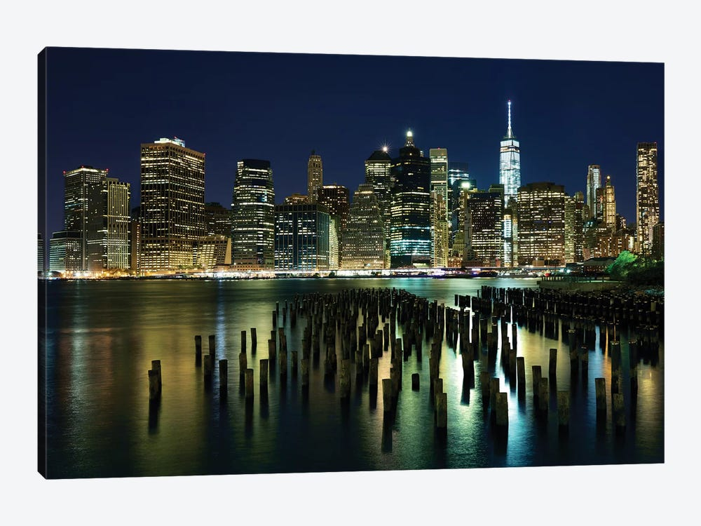New York At Night VII by James McLoughlin 1-piece Canvas Art